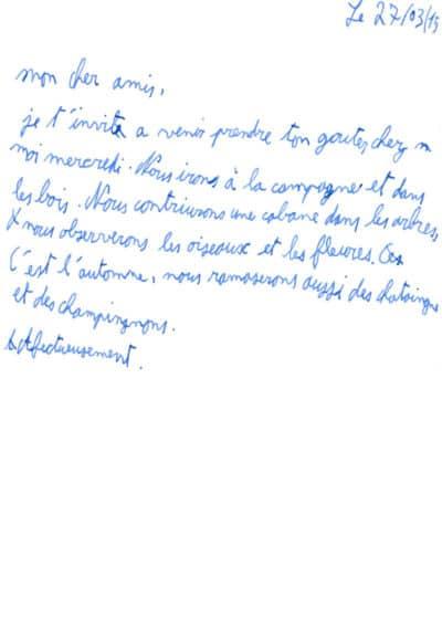 Dysgraphie, après rééducation graphique - Sylvie Tramasure